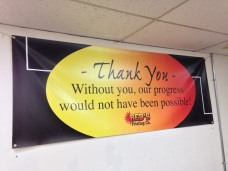 Large full color vinyl banner