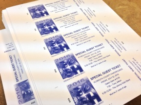 Individually numbered even tickets